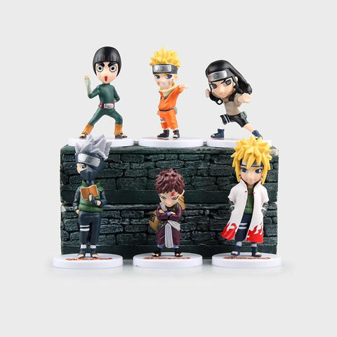 Naruto Sasauke ninja  action figure Q version 6 Parts / sets Uzumaki  Sasuke kakachi doll decoration pvc collection toys for children AT_81_8