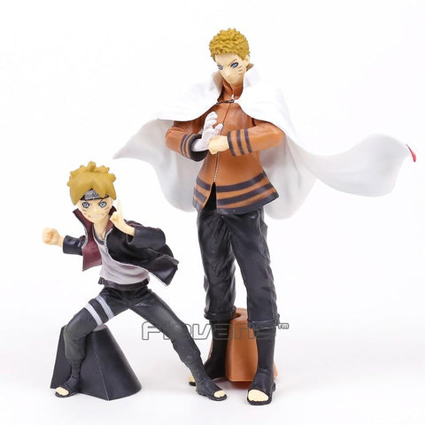 Naruto Sasauke ninja BORUTO  NEXT GENERATIONS Uzumaki  & Boruto PVC Figures Toys with Retail Box 2pcs/set AT_81_8