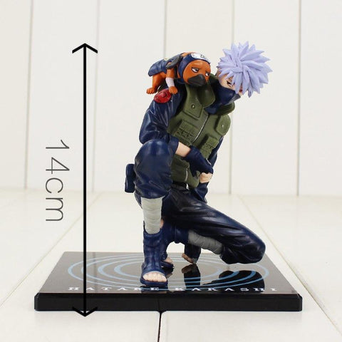 Naruto Sasauke ninja 14cm  Kakashi Sasuke Action Figure Anime puppets Action Figure PVC Toys Model Table Desk Decoration Doll AT_81_8
