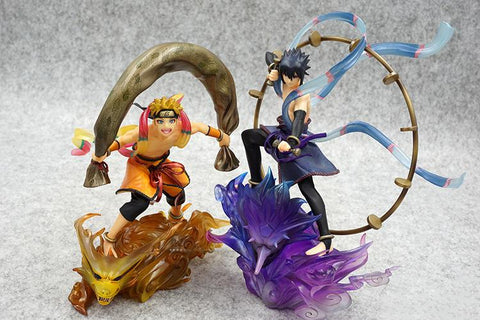 Naruto Sasauke ninja Anime  Aeolus Uzumaki  & Thor Uchiha Sasuke Action Figure #3059 Children Collectible Model Toy Kids Christmas Gift AT_81_8