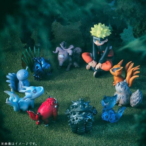 Naruto Sasauke ninja mylb 10pcs/set 4-7cm Nini  Tailed Beast PVC Doll Toys Anime Collection  Model Toy Dolls Nine Lamas AT_81_8