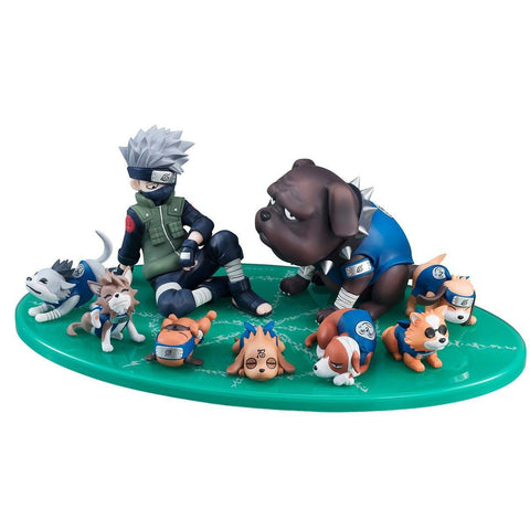Naruto Sasauke ninja WVW 9pcs/Set Hot Sale Anime Heroes  Kakashi Model PVC Toy Action Figure Decoration For Collection Gift   AT_81_8