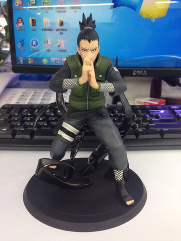 Naruto Sasauke ninja WVW 15CM Hot Sale Anime Heroes  Nara Shikamaru Model PVC Toy Action Figure Decoration For Collection Gift   AT_81_8