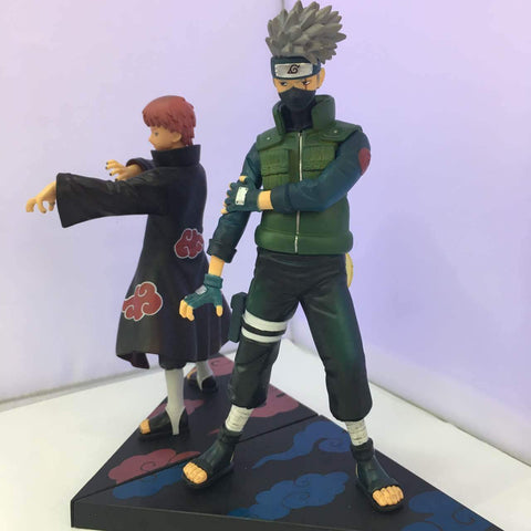 Naruto Sasauke ninja WVW 2pcs/Set Anime Heroes  Kakashi Sasori Model PVC Toy Action Figure Decoration For Collection Gift   AT_81_8