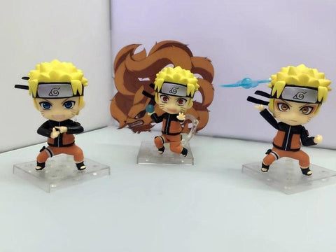 Naruto Sasauke ninja WVW 3pcs/Set Hot Sale Q version Anime Heroes  Uzumaki  Model PVC Toy Action Figure Decoration For Collection Gift AT_81_8