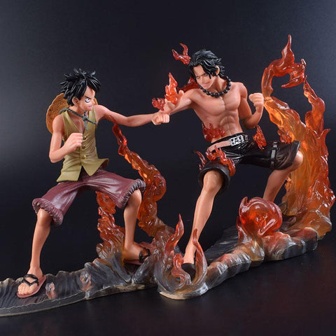 Naruto Sasauke ninja 2PCS/Set 17cm  Action Figure Japan Anime Uzumaki Shippuden Luffy VS Ace Cartoon battle of Portgas+Monkey D Luffy AT_81_8