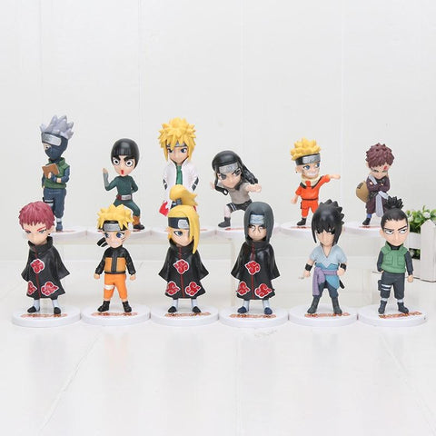 Naruto Sasauke ninja 6pcs/set 8-12cm Anime  Uzumaki  Hatake Kakashi Sakura Hohzuki PVC Action Figure Toy AT_81_8
