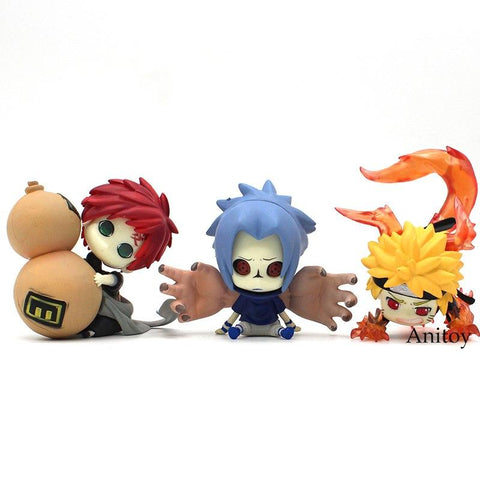 Naruto Sasauke ninja  Shippuden  Uzumaki  Uchiha Sasuke Gaara BB Ver. PVC Figure Collectible Model Toy 6-8cm AT_81_8