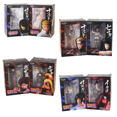 Naruto Sasauke ninja 2pcs/lot  Figure Set  Sasuke Itachi Hinata Gaara Deidara Collectible Model Toy for Kids AT_81_8