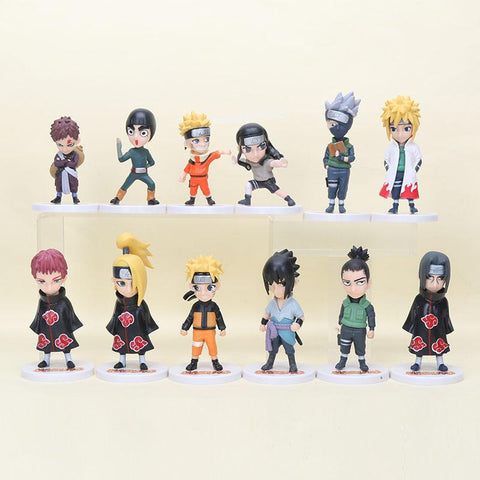 Naruto Sasauke ninja 8-12cm Anime 6pcs/set  action figure Uzumaki  Hatake Kakashi C Action Figure PVC Collectible Model Toy Dolls AT_81_8