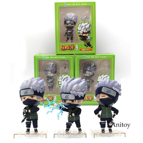 Naruto Sasauke ninja Nendoroid  Hatake Kakashi for The Man Xiang PVC Action Figure Collectible Model Toy 3pcs/set 10 cm AT_81_8