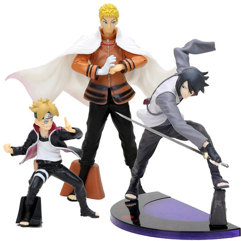 Naruto Sasauke ninja 10-18cm  Uchiha Sasuke BORUTO  THE MOVIE action figure collection toys Christmas gift AT_81_8
