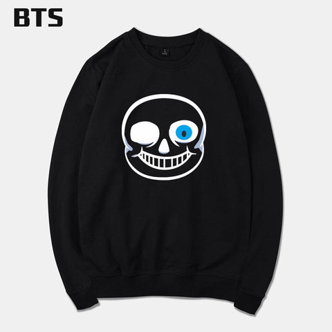 Undertale Sans Papyrus BTS  Game Sweatshirt Men Brand Casual Fashion Funny O Neck Harajuku Hot Sale Creative Tracksuit Loose Hoodie Sweatshirt AT_82_8