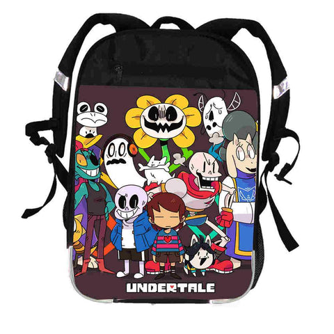 Undertale Sans Papyrus  Printing Backpack Anima Freddy Women Men Casual Boys Girls School Bags Hip Hop Male Laptop mochila Kpop Bagpack AT_82_8