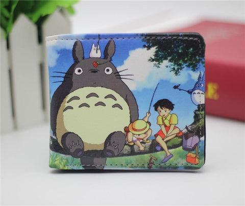 Final Fantasy Cloud Sephiroth kupo Marvel  anime totoro one piece NARUTO  wallet leather pu mens credit card wallet short bifold purse 22 style AT_84_8