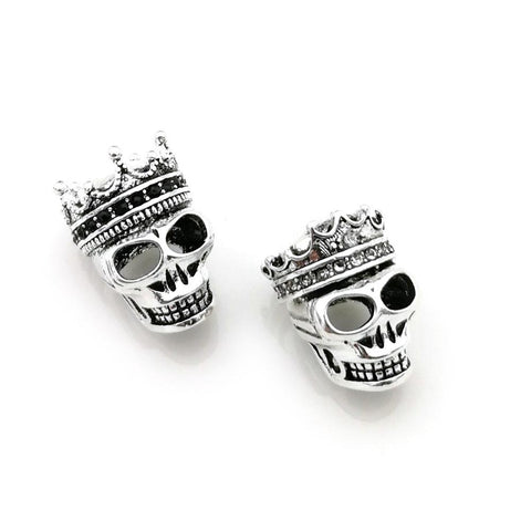 Cool Thomas Skull King & Queen with Crown Pattern DIY Beads Fit TS Bracelet, Rebel Heart Style Jewelry Gift for Men and Women TS KB69AT_93_12