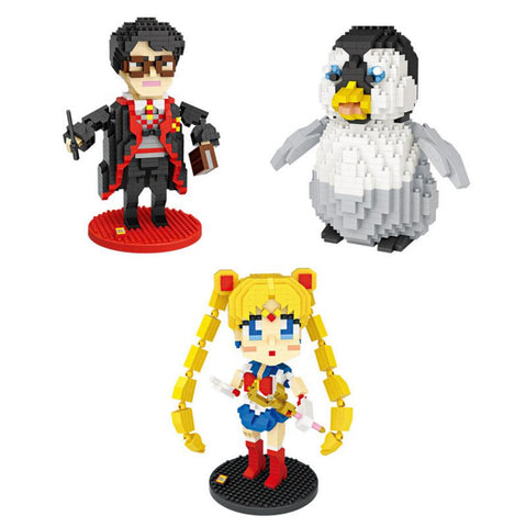 Kawaii Sailor Moon Sailormoon Hot movie cartoon images micro diamond building block  harry potters penguin nanoblock assemblage toys for kids gifts