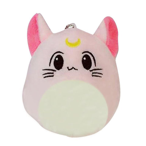 "Kawaii Sailor Moon Sailormoon SGDOLL KPOP EXO Idol  Luna Cat Style Cartoon Character BAEK HYUN 4"" Pink Soft Plush Doll Keychain Charm"