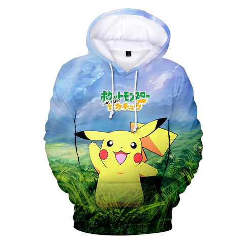 BTS 2018 New Game  Go Pikachu Eevee 3D Hoodies Men/Women Kawaii Anime Print Hoodies Men Fashion Women Harajuku ClothesKawaii Pokemon go  AT_89_9