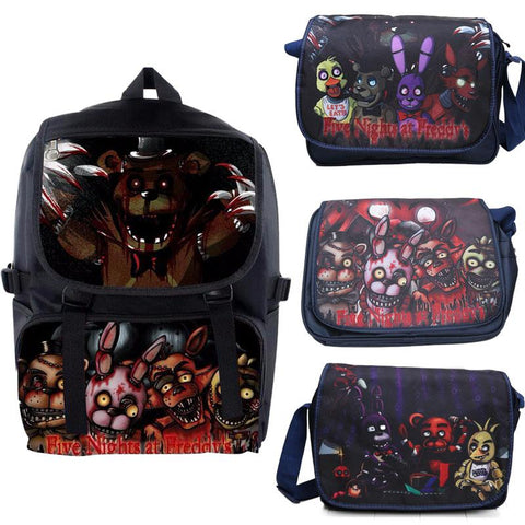 Legend of Zelda Link FNAF Five Nights at Freddy's Backpack Dragon Ball Z The  of  Schoolbag Freddy Fazbear Bear Figure Messenger Bags NES Switch AT_87_9