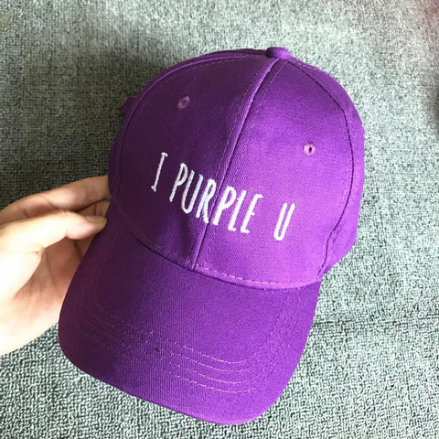 Trendy Winter Jacket Korean Fashion BTS V Baseball Cap Snapback unisex adjustable Hat I PURPLE U New AT_92_12