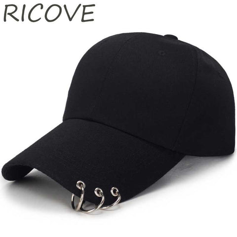 Trendy Winter Jacket Bts Kpop Dad Hat Snapback Baseball Cap With Rings Women Simple Adjustable Caps For Men Solid Plain Hip Hop Trucker Hats Fashion AT_92_12