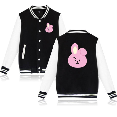 Trendy BTS K-pop Winter Jacket Women BTS Bangtan Love Yourself Fashion Jacket Mens Cartoon Female Fans Casual Baseball Jacket XXS-4XL AT_94_13