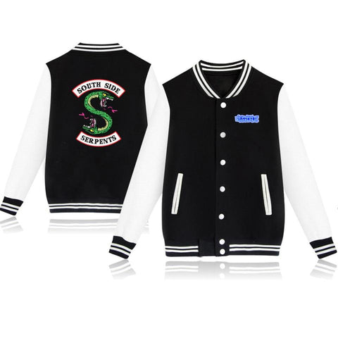 Trendy LUCKYFRIFAYF 2018 BTS Spring Riverdale Hit TV Play Baseball Bomber Jacket Men/Women Casual College Uniform Coat Women Streetwear AT_94_13