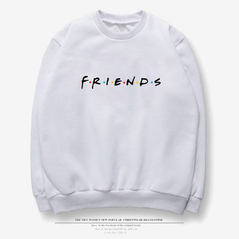 Friends letter fashion long sleeve female winter large size S-2XL fun loose hooded friends new BTS sweatershirt