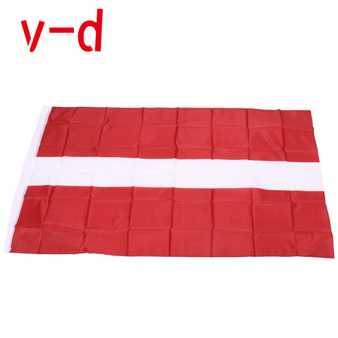 free  shipping  xvggdg  90x150cm Latvia  flag 3x5 Feet Super Poly football FLAG Indoor Outdoor Polyester Flag