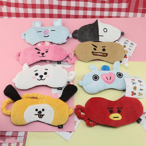 KPOP BTS Bangtan Boys Army New BT21 Korean Style Fashion K Pop   Boys Cute Cartoon Sleep Mask Eye Masks Eye Patch Eyeshade Travelling AT_89_10