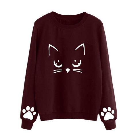 KPOP BTS Bangtan Boys Army 2018 autumn women's sweatshirts hoodies cartoon cat print girls sweatshirt  hoodies long sleeve#TX5 AT_89_10