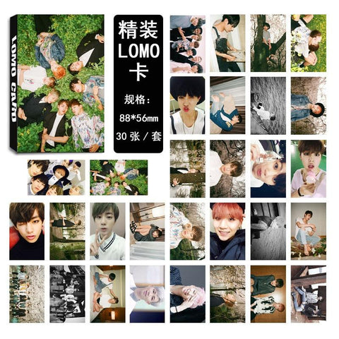 KPOP BTS Bangtan Boys Army 30pcs/set   LOMO Cards Fashion Paper Photo Card HD Paper Photocard  Boys LOVE YOURSELF Tear Album Answer Idol AT_89_10