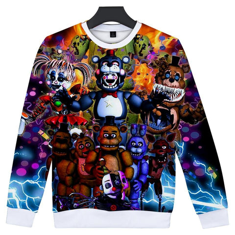 KPOP BTS Bangtan Boys Army  3D Five Nights at Freddy Women And Men Clothes 2018 Kawaii Hoodies Sweatshirts Printed Hip Hop Tops Plus Size Q-1910-YH02 AT_89_10