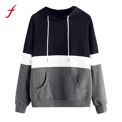 KPOP BTS Bangtan Boys Army feitong 2018 New Fashion Hoodies Autumn Women's Long Sleeve Hoodie Pullover Striped Tops Patchwork Red Pocket  Sweatshirts AT_89_10
