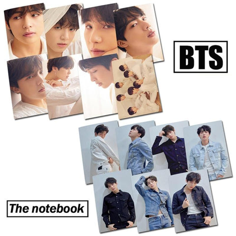 KPOP BTS Bangtan Boys Army New  Character Notebook K Pop  Boys Korean Style Fashion  Fans Gifts JIMIN V RAPMONSTER JIN JUNGKOOK SUGA J-HOPE AT_89_10