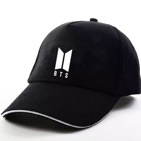 KPOP BTS Bangtan Boys Army    Boys JUNGKOOK SUGA JHOPE V JIMIN The Same Letter Baseball Hat Peaked Cap Black Color AT_89_10