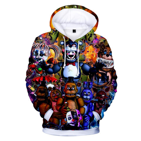 KPOP BTS Bangtan Boys Army  Hoodies Kawaii 3D Five Nights at Freddy Sweatshirt Long Sleeve Women Clothes 2018 Tops  Hip Hop Plus Size Q-1910-YH03 AT_89_10