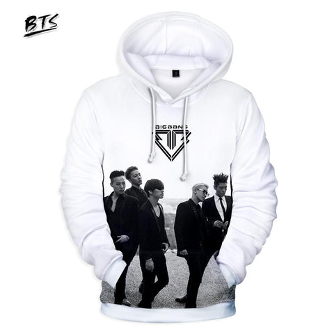 KPOP BTS Bangtan Boys Army  Hot Sale Hoodies Casual 3D BIGBANG Sweatshirt Long Sleeve Clothes 2018 Hooded  fashion Hip Hop Tops Plus Size AT_89_10