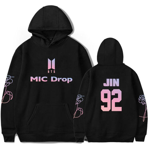 KPOP BTS Bangtan Boys Army  Hoodies  Boys New song MIC  Sweatshirt Popular  Women/men Harajuku Hoodies Sweatshirts Female Hip Hop Clothes AT_89_10