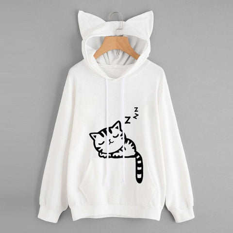 KPOP BTS Bangtan Boys Army 2018 moletom   Womens Cat Long Sleeve Hoodie Sweatshirt Hooded Pullover Tops Blouse AT_89_10