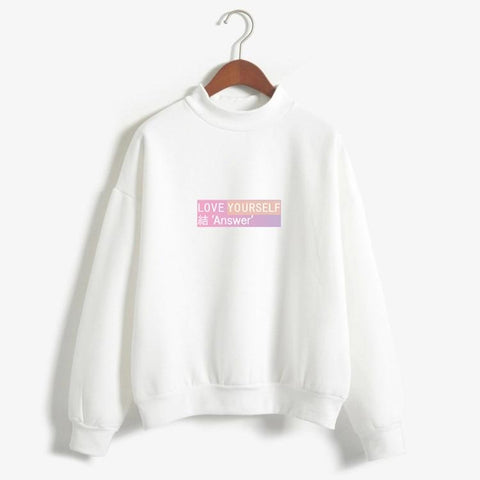 KPOP BTS Bangtan Boys Army 2018  Love Yourself Answer   cotton Hoodies sweatshirts women  Album Pullovers Korean Style hit hop Casual clothes AT_89_10