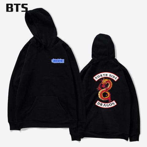 KPOP BTS Bangtan Boys Army  Riverdale Oversized Hoodie Men Casual Loose Harajuku Fashion Hipster Brand Winter Hoodies Men Sweatshirts Hooded Pullover AT_89_10