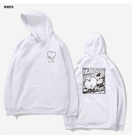KPOP BTS Bangtan Boys Army 2018 New   Love Yourself Women/Men Hoodies Sweatshirts  Boys Outwear Hoodies Anime Cute Pullover Tops AT_89_10