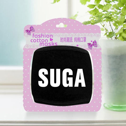 KPOP BTS Bangtan Boys Army Korean star  Suga logo mask fashion personality novelty men women mascherine outdoor Anti-bacterial Dust black mouth masks AT_89_10