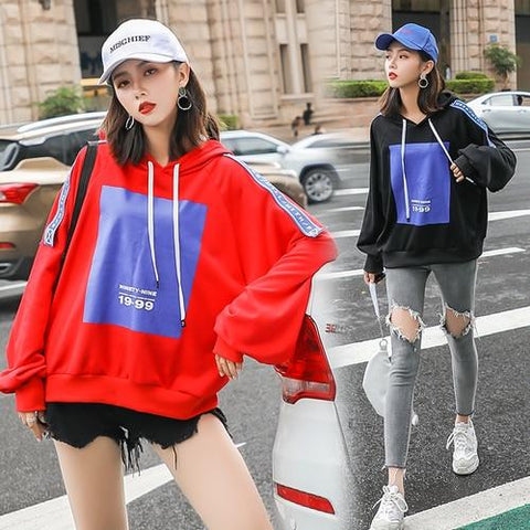 KPOP BTS Bangtan Boys Army Women Loose Autumn Harajuku Hoodies Letter Print Long Sleeves Hoodie Sweatshirt And Pullovers Kawaii   Baggy Clothes AT_89_10