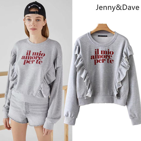 KPOP BTS Bangtan Boys Army Jenny&Dave hoodies women  harajuku cotton  hoodies print letter ruffles panelled oversize sweatshirt plus size tops 0825 AT_89_10