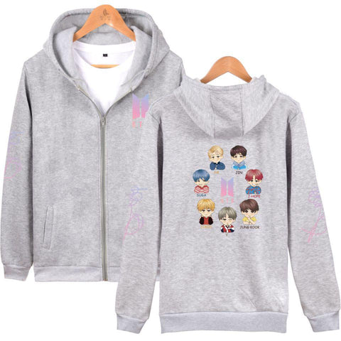 KPOP BTS Bangtan Boys Army Fashion LUCKYFRIDAYF 2018   Women/Men Zipper Hoodies Sweatshirt Cool Style Anime Hip Hop Zipper Hoodies Plus Size 4XL AT_89_10