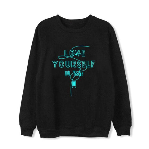 KPOP BTS Bangtan Boys Army   Tear LOVE YOURSELF Sweatshirts Hoodies Pullover Women Men Moleton College Tracksuit Cotton Harajuku Top Coat AT_89_10