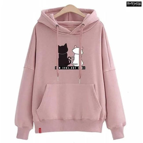 Women's Clothing Hoodies Hooded Harajuku Women Oversize Big Pocket Embroidery Trendy Womens Chic Casual Pullover Korean Style Student Sweatshirts Excellent In Cushion Effect